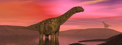 Dinosaur argentinosaurus Stock Photography