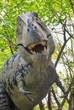 Dinosaur Attack in Jungle Royalty Free Stock Photo