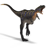 Dinosaur Aucasaurus. With clipping path over white Stock Photo