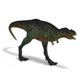 Dinosaur Aucasaurus. With clipping path over white Royalty Free Stock Image