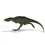 Dinosaur Aucasaurus. With clipping path over white Royalty Free Stock Images