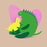Dinosaur background Stock Photo
