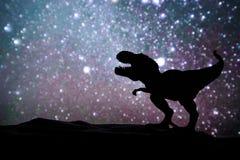 Dinosaur. Background Silhouette stock photos