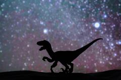Dinosaur. Background Silhouette royalty free stock images