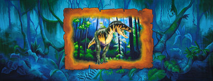 Dinosaur background Royalty Free Stock Photo