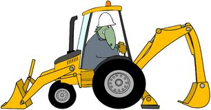 Dinosaur Backhoe Operator Royalty Free Stock Photo