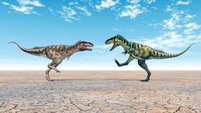 Dinosaur Bistahieversor Royalty Free Stock Photo