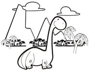 Dinosaur in black and white Stock Photography