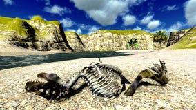Dinosaur bones stock illustration