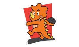 Dinosaur Bowling Stock Images