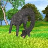 Dinosaur Brachiosaurus in Park Stock Photography