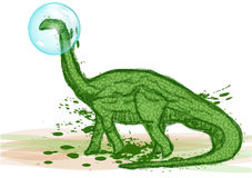 Dinosaur in bubble Royalty Free Stock Image