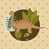 Dinosaur card Royalty Free Stock Photos