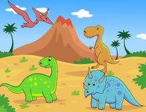 Dinosaur cartoon Stock Image