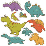 Dinosaur cartoon collection set Royalty Free Stock Photo