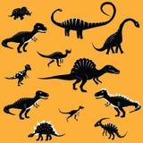 Dinosaur cartoon collection set vector illustration. comic tyrannosaurus fantasy. Royalty Free Stock Photography