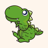 Dinosaur cartoon theme elements vector,eps Royalty Free Stock Image