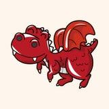 Dinosaur cartoon theme elements vector,eps Royalty Free Stock Photos