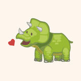 Dinosaur cartoon theme elements vector,eps Royalty Free Stock Photo