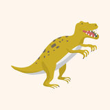 Dinosaur cartoon theme elements vector,eps Stock Image