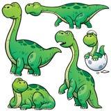 Dinosaur Cartoon. Vector illustration of Dinosaur Cartoon Character Set Royalty Free Stock Images
