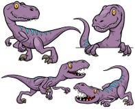 Dinosaur Cartoon. Vector illustration of Dinosaur Cartoon Character Set Stock Photo