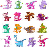 Dinosaur character set Stock Photo