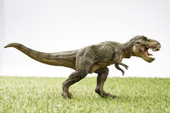 Dinosaur. Close up Isolated dinosaur on grass background Royalty Free Stock Photos