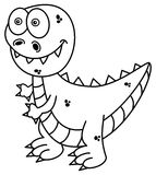 Dinosaur for coloring Stock Images