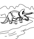 Dinosaur coloring page Royalty Free Stock Photo