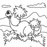 Dinosaur coloring page Royalty Free Stock Images