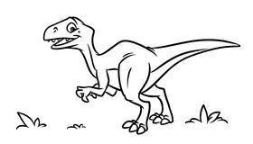 Dinosaur coloring pages Royalty Free Stock Photos