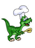 Dinosaur cook Royalty Free Stock Images