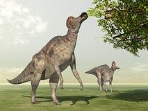 Dinosaur Corythosaurus royalty free illustration