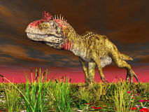 Dinosaur Cryolophosaurus Stock Photography