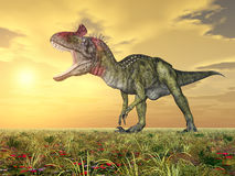 Dinosaur Cryolophosaurus Stock Images
