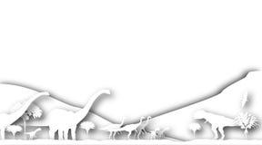 Dinosaur cutouts Royalty Free Stock Images