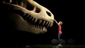 Dinosaur czaszka ilustracja wektor