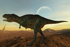 Dinosaur d'Aucasaurus-3D Image stock