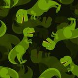 Dinosaur 3d background. Tyrannosaurus seamless pattern. Stock Photos