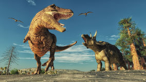 Dinosaur. 3d render dinosaur. This is a 3d render illustration Stock Photos
