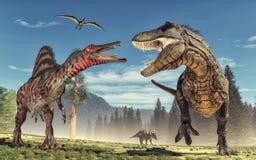 Dinosaur. 3d render dinosaur. This is a 3d render illustration Stock Photos
