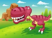 Dinosaur de dessin animé illustration stock