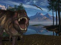 Dinosaur de Rex- 3D de Tyrannosaurus Photographie stock libre de droits