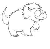 Dinosaur de T-rex noir et blanc Images libres de droits