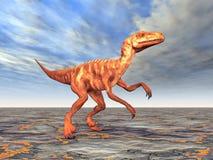 Dinosaur Deinonychus Illustration Stock