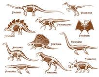 Dinosaur Dekoracyjne ikony Ustawiać Fotografia Royalty Free