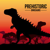 Dinosaur design. Over sunshine background,vector illustration Royalty Free Stock Photography