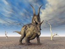 Dinosaur Diabloceratops Illustration Libre de Droits