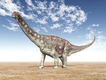 Dinosaur Diamantinasaurus stock illustration